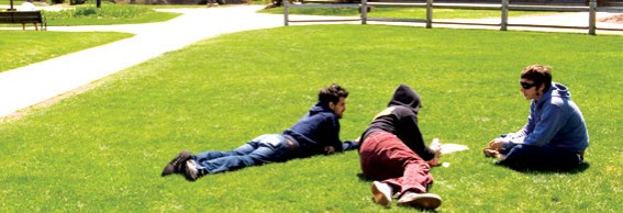 Boys on grass