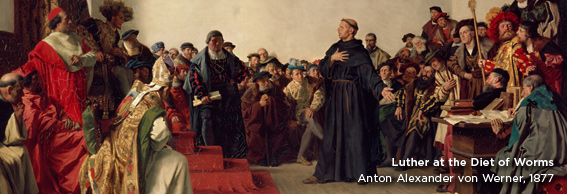 Artwork featuring Luther at Worms
