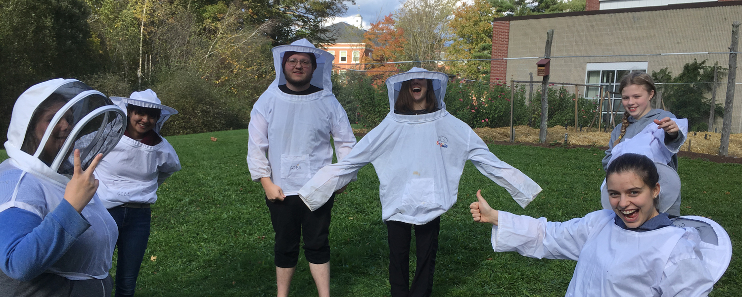 Beekeeping Club students in their veils