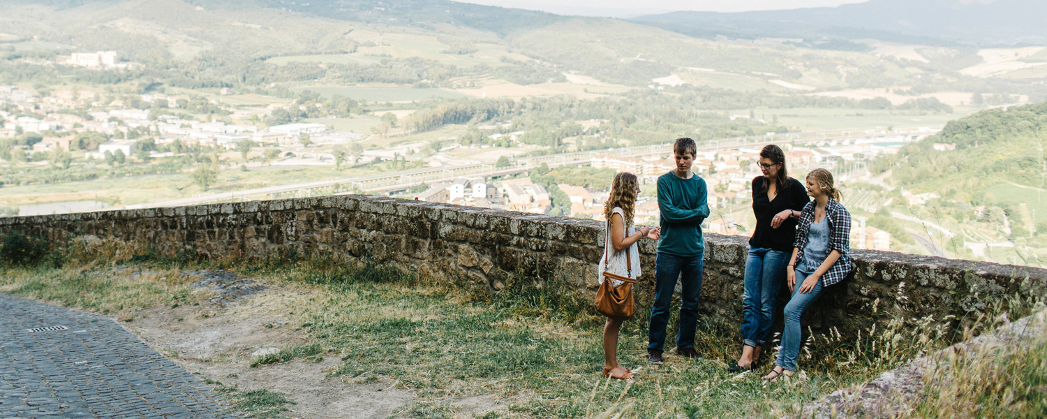 Students conversing in Orvieto