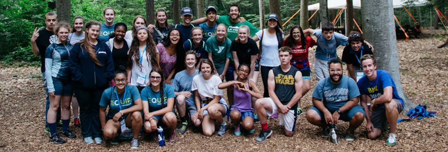 Group shot by the ropes course