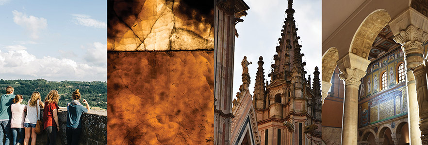 images of duomo, students and city textures