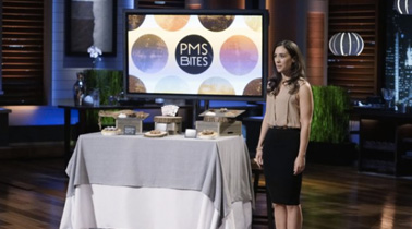 Tania on set of Shark Tank