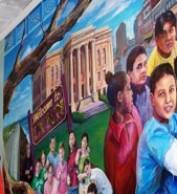 A mural painted by Gordon students