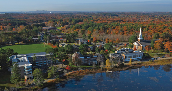 Aerial photo of Gordon College campus