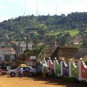 Mukono town, road to school