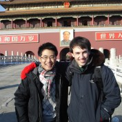 Students in front of the Forbidden City