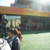 Queue at the National Theatre