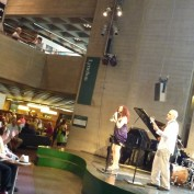 Music performance in the National Theatre lobby