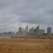 The beach at Durban
