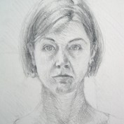 Michelle Arnold Paine self-portrait drawing