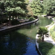 scene from the riverwalk San Antonio