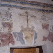 Fresco in the church at Mission San Juan