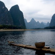 Limestone karsts at Guilin in South China