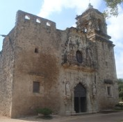 Facade of the church at Mission Concepcion