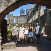 gordon/jaf alumni at Mission Concepcion