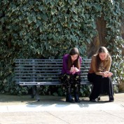 Praying in the convent garden
