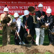 Ken Olsen at groundbreaking ceremony