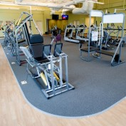 View of the interior of the fitness training area