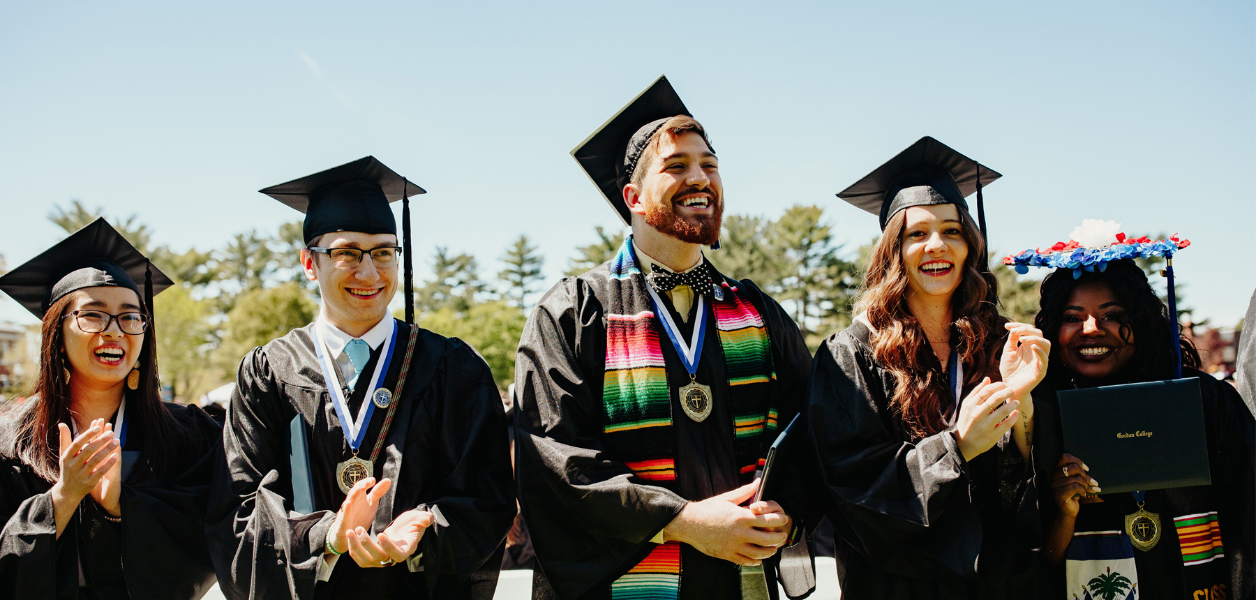 Graduates on Commencement Day