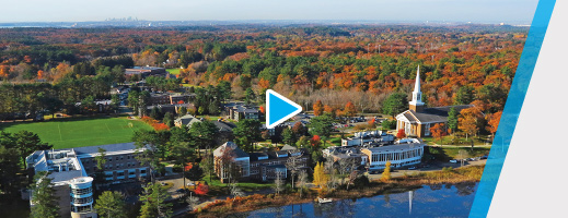 Watch an aerial video of Gordon's campus
