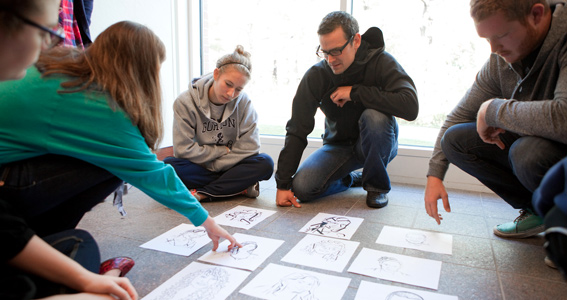 Design class critiquing work