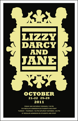 Lizzy Darcy and Jane Theatre Poster