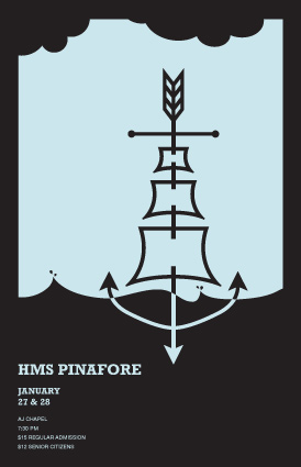 HMS Pinafore Theatre Poster