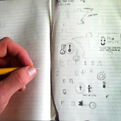 Sketching logo ideas