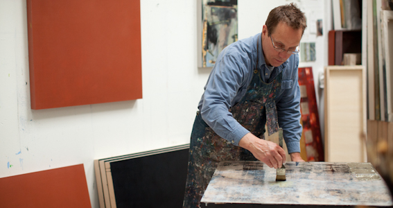 Bruce in his studio