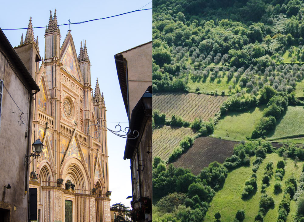 Orvieto Duomo and countryside