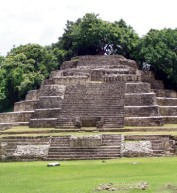 A pyramid in Belize