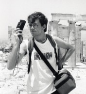 A photographer in Athens