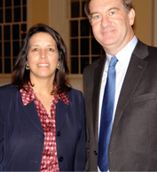 Salem mayor Kim Driscoll with Mark Sargent